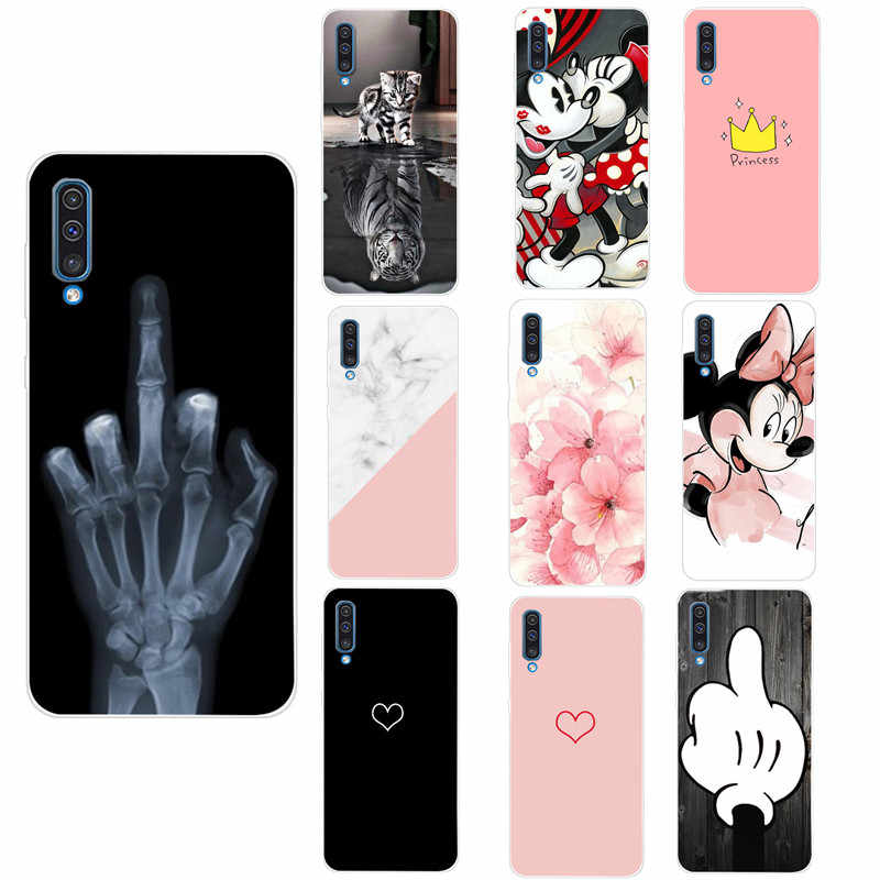 Silicone Case For Samsung A7 2018 A30 A50 Smart Phone Cover FOR Samsung A750 Painted Phone Case FOR S10 Plus Lite S 10 S10E TPU