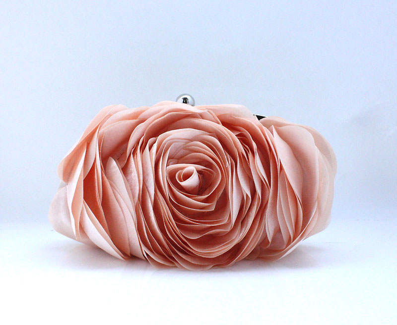 women flower bride clutch purse Wallet Color : White, black, blue, purple, champagne, apricot, silver, rose Red, red