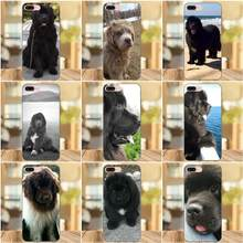 TPU Fashion Case For Apple iPhone 4 4S 5 5S SE 6 6S 7 8 Plus X XS Max XR Newfoundland Dog Beautiful Gentle Giant(China)