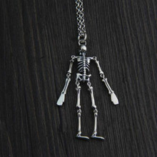 лучшая цена JINSE hip hop head body can be active style S925 sterling silver antique silver necklace pendant without chain men 17.3 * 70.3MM