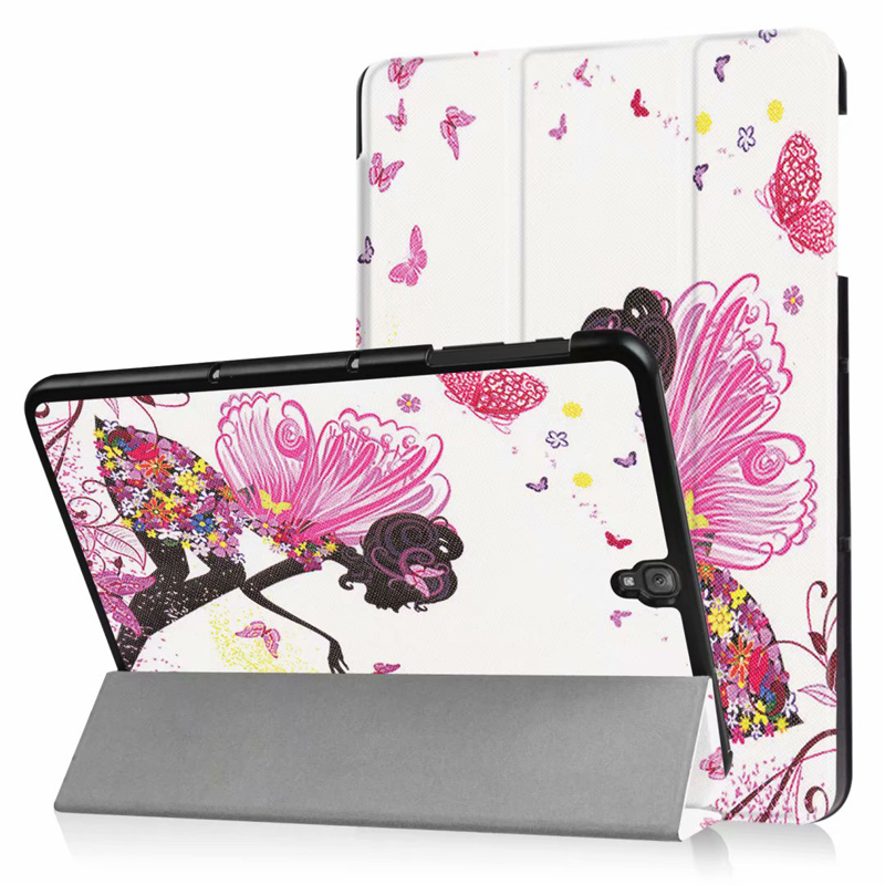 Nice Painting Case For Samsung Galaxy TAB S3 9.7 Smart Cover Stand Case Color Butterfly Girl Tree Tower Owl Flower Eye Printing