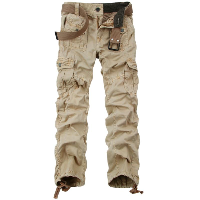 Tropfenverschiffen Neue Arivals Multi-Taschen Feste Mens Cargo Pants - Herrenbekleidung - Foto 6