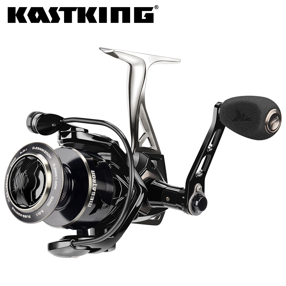 KastKing Brutus Spincasting Reel Bass Fishing Reel with Line 11 LB Smooth Drag