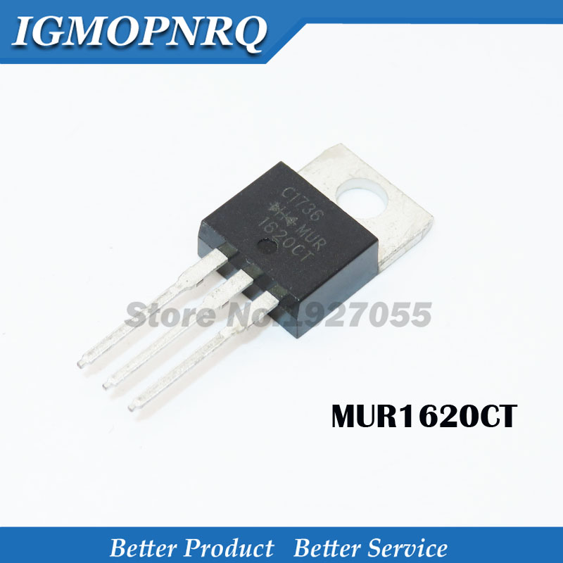 Free Shipping 10pcs/lot 200V16A Common Anode Fast Recovery Diode MUR1620CTRG U1620R TO-220 R1620CTRG 1620 New Original