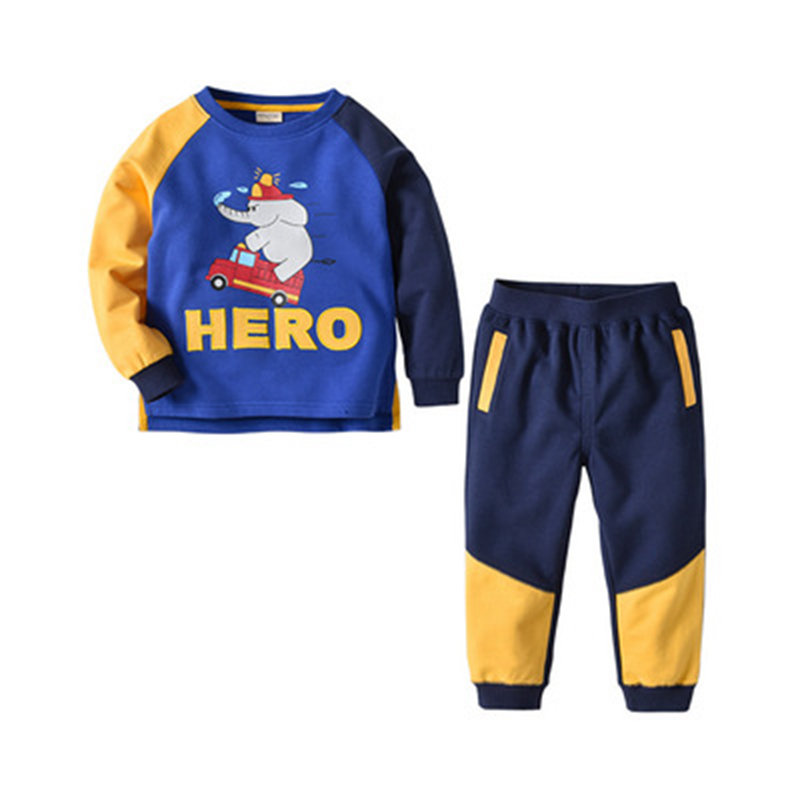 BAOZIWO Childrens Wear 2019 Colorful Spring and Autunm New Childrens Set Boys Casual Set Kid SuitBAOZIWO Childrens Wear 2019 Colorful Spring and Autunm New Childrens Set Boys Casual Set Kid Suit