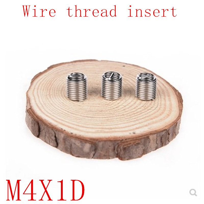 50pcs M4*0.7*1D Wire Thread Insert Stainless Steel 304 Wire Screw Sleeve, M4 Screw Bushing Helicoil Wire Thread Repair Inserts