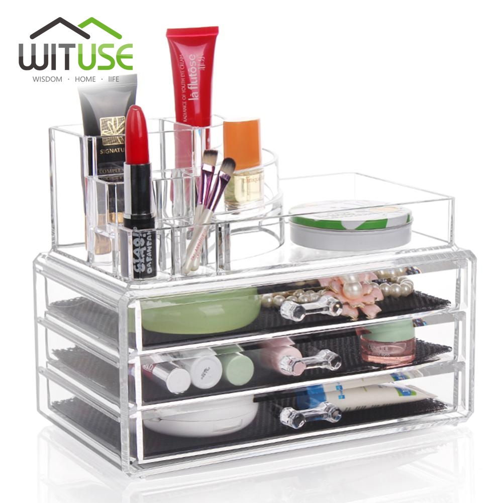 WITUSE Low Price! Storage Box Desk Board Fairy Tale Cosmetic Makeup Organizer Jewelry Box