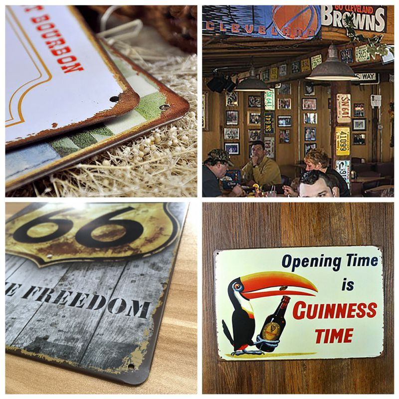 20x30cm vintage retro metal iron painting signs poster plaque bar pub club wall vintage home. Black Bedroom Furniture Sets. Home Design Ideas