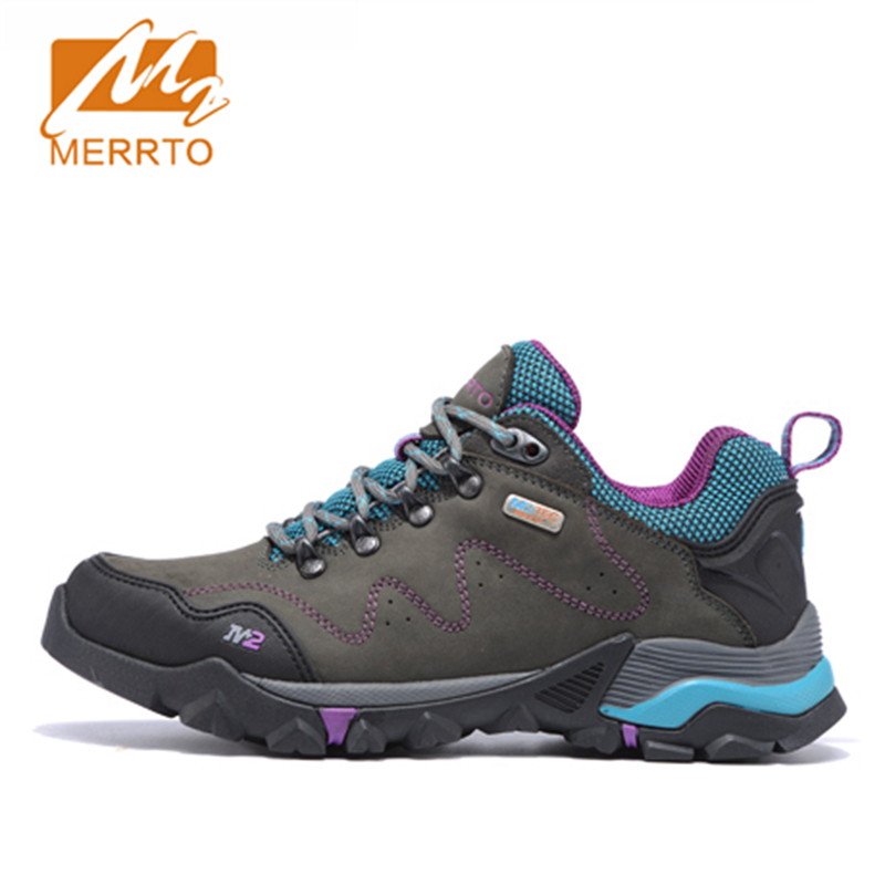2017 Merrto Womens Walking Shoes M2-TEC Waterproof Outdoor Sports Shoes Full-grain leather For Women Free Shipping MT18558
