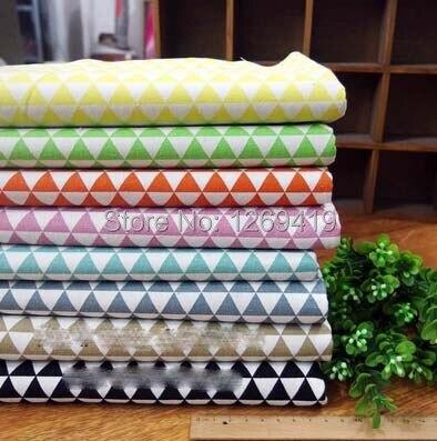 Alta calidad 8 colores 50 * 35 cm trigonometría de lino del algodón tela fat bun