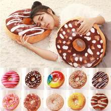 Cute Donuts Pillow Chocolate Donuts Plush Macaron Food Cushion Nice Bottom Cushion Nap Pillow Doughnut Coussin(China)