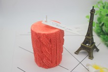 3D wool candle Mold Handmade Soap Making Plaster Ornament Craft Mould DIY Candle Making Silicone Molds