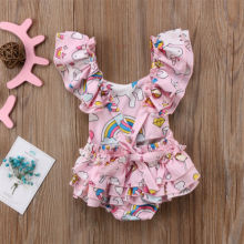 Baby Girls' Pink Unicorn Romper