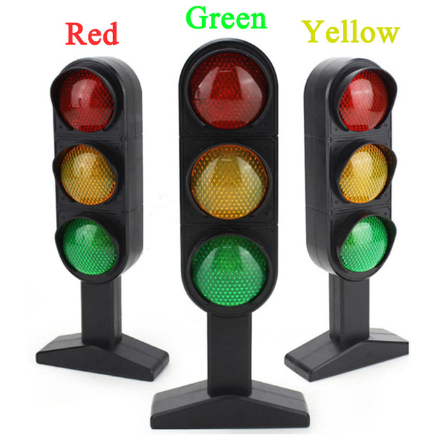 New 1Pcs Time-limited New Trains Slot Kid Juguetes Child Traffic Light Signal Lamp Toy Mini Cars Electric Railway Brinquedos Toy