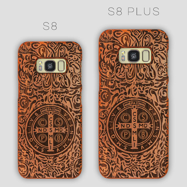 release date: f7f6c 6ab40 US $10.59 15% OFF|For Samsung s8 Case Hard Full Protective Wood Wooden  Carved Back Cover s8 plus cases for Samsung galaxy s8 / s8+-in Half-wrapped  ...