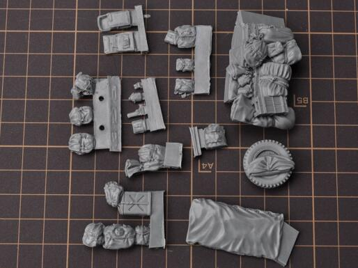 1/35 Modified Parts Resin Sandbag Equipment For Jeep Car (WWII US Army Fury NO.4)