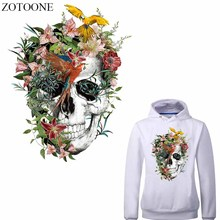 ZOTOONE Iron on Skull Patches for Clothing Jeans Stickers Decoration Diy Heat Transfer Vinyl Appliques Clothes