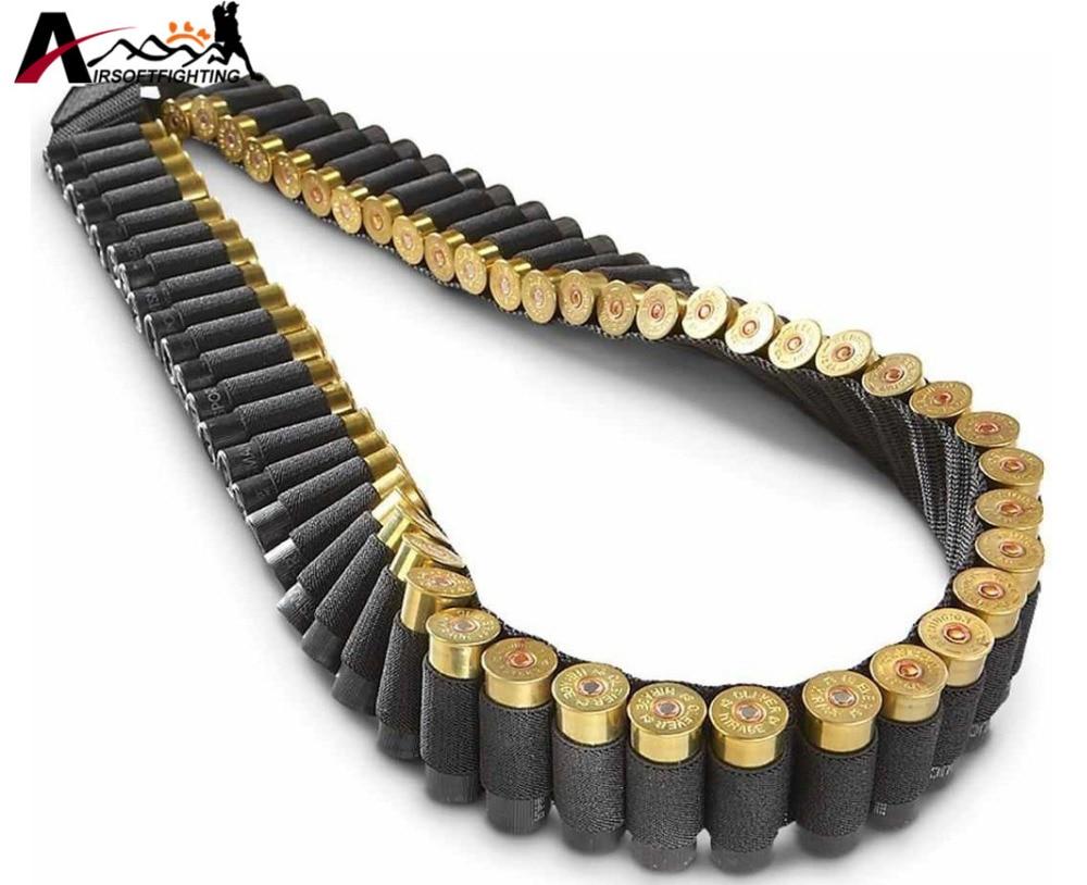 140 * 5cm 50 Shotgun Shell Bandolier Belt 12 GA 20GA Tactical Jakt - Jakt - Foto 3