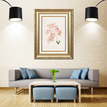 Artcozy Golden Frame Abstract Botanical illustration Waterproof Canvas Painting