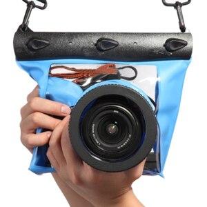 Image 5 - Centechia 수중 다이빙 카메라 하우징 케이스 파우치 드라이 백 카메라 Canon Nikon DSLR SLR 용 방수 드라이 백