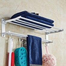 Multifunction Kitchen-Shelves Bathroom-Towel Storage-Rack Sundires-Holder Foldable Aluminum-Alloy