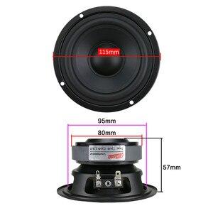 Image 5 - GHXAMP 4,5 дюймовый Hi Fi динамик средних басов 80 Вт 115 мм, динамик средних частот для книжной полки, автомобильный аудио резиновый край, 1 шт.