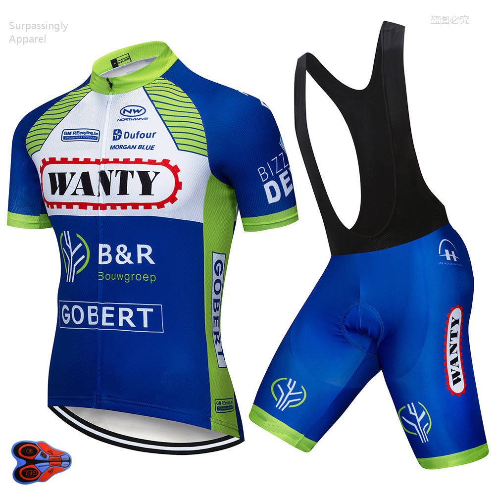 2019 TEAM Wanty Cycling Jersey 9D Gel Bike Clothing Short Set Ropa Ciclismo Men Summer Pro Bicycling Wear Maillot Culotte Suit