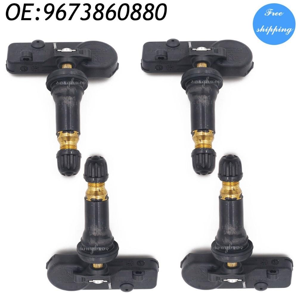 4PCS Tire Pressure Monitoring System Sensors For Peugeot Citroen 9673860880 433MHz 5430W0 96 738 608 80