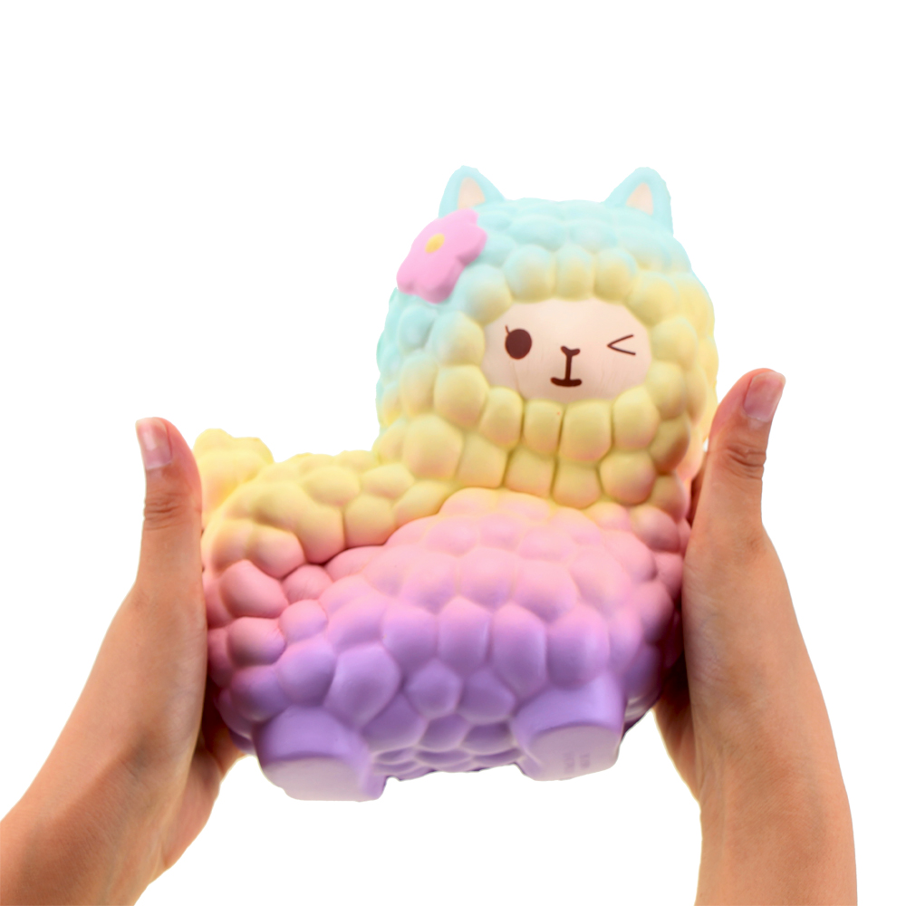 Squsihies Stress Toys Squishy Slow Rising Stress Toys Alpaca 7.1 Rainbow (19)