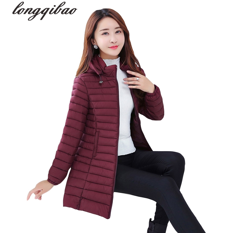 The new autumn and winter women long section of large size thin section hooded solid color Slim Down padded jacket TB7679 physical and sensing properties of zinc oxide thin films