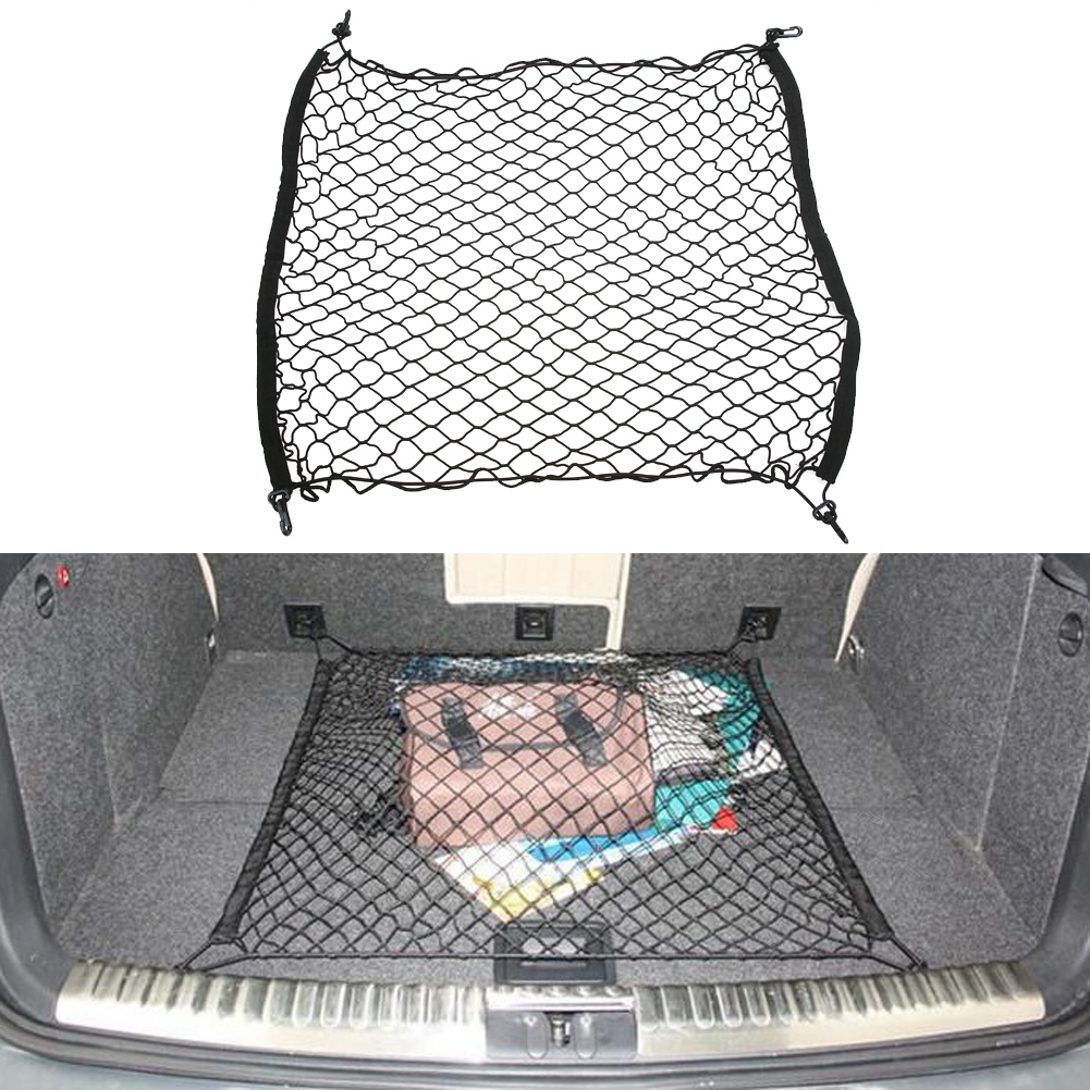 Trunk Luggage Cargo Net Car Mesh Storage Organizer 4 Hooks Car Stowing Tidying For Toyota Corolla RAV4 Prius Yaris Verso Passo