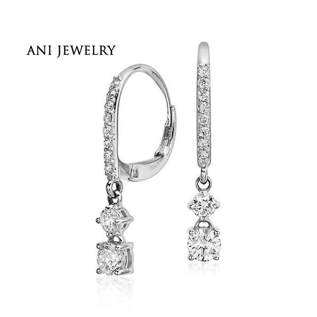 Ani 14k White Gold Women Dangle Earrings 1 58 Ct Certified I S1 Natural Diamond