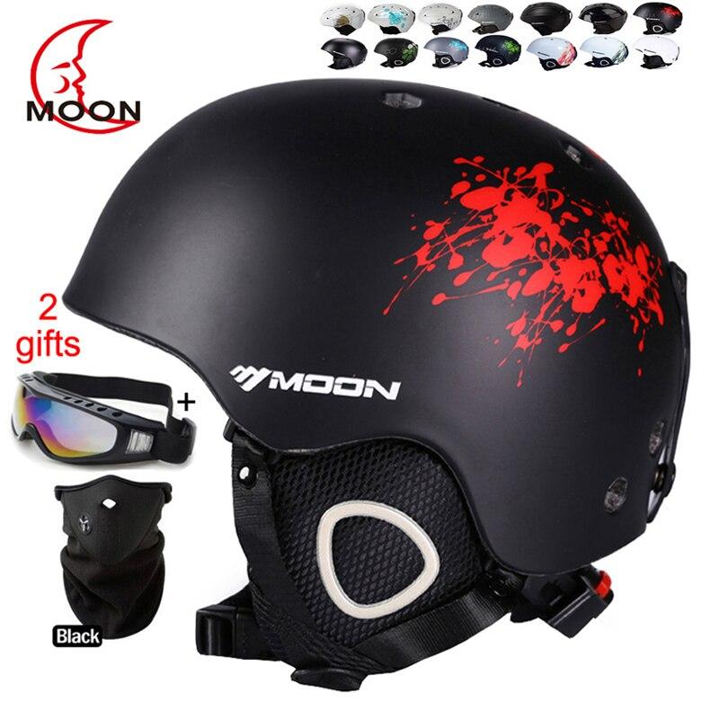 MOON Skiing Helmet Autumn Winter Adult and Children Snowboard Skateboard Skiing Equipment Snow Sports Safty Ski Helmets цена