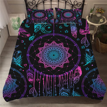 Bedding Set 3D Printed Duvet Cover Bed Dreamcatcher Bohemia Home Textiles for Adults Bedclothes with Pillowcase #BMW13