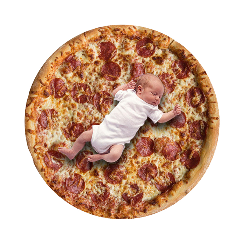 High Quality Pizza Burrito Baby Blanket Flour Tortilla Swaddle Blanket Sleeping Swaddle Wrap