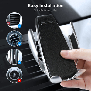 Image 2 - Floveme Infrared Touch Car Phone Holder Wireless Charging For iPhone Samsung 360 Navigation Car Mount holder Car Stand Support