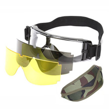 X800 Military Sunglasses Men Airsoft Paintball Glasses Army