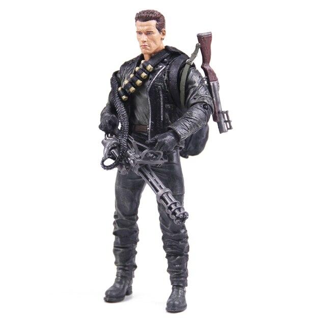 Classic Movie Arnold Schwarzenegger Bambola NECA Terminator 2 T800 Cyberdyne Showdown Modello di Azione del PVC Figure Toy 18 centimetri