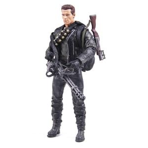 Image 1 - Classic Movie Arnold Schwarzenegger Doll NECA The Terminator 2 T800 Cyberdyne Showdown Model PVC Action Figure Toy 18cm