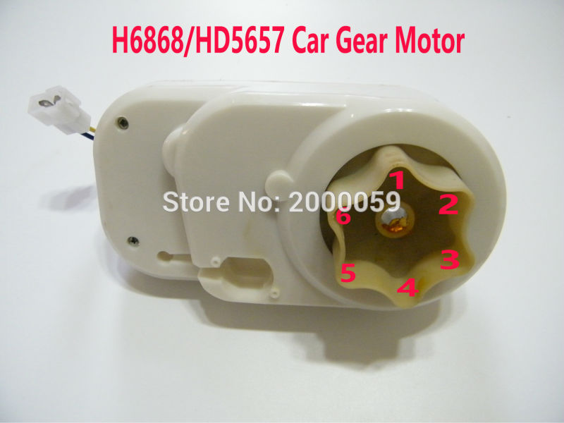 6V 6Teeth Gear Motor GearBox Motor Replacement For Kids Ride Car ATV Quad Motorcycle Trike