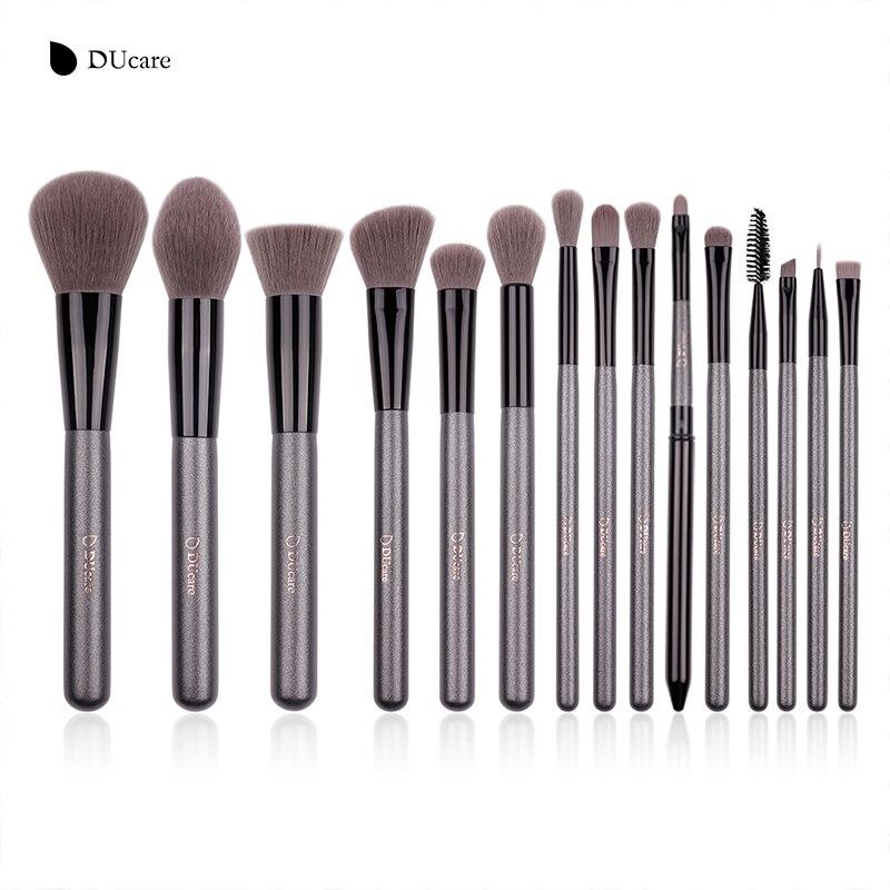 DUcare Nouveau 15 Pcs Maquillage Pinceaux Professionnel Fondation Ombre À Paupières Brosse De Haute Qualité Cosmétique Make up Brush Kit