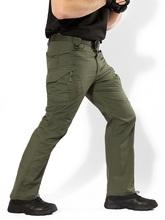 Mężczyźni IX9 miasto taktyczne spodnie w stylu cargo mężczyźni bojowe wojskowe spodnie militarne bawełna wielu kieszenie Stretch elastyczne spodnie typu casual mężczyźni 5XL tanie tanio Pełnej długości Cargo pants Wojskowy Luźne Poliester COTTON Midweight Mieszkanie Suknem Zipper fly Classic Tactical IX7 Pants