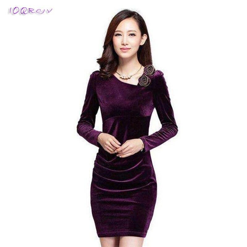 spring dress 2018 new fashion Long sleeve women dress Package hip Mini Sexy dress Gold velvet female dress elegant IOQRCJV T53