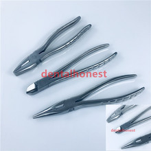 1pcs Flat Nose Pliers With Serrated Jaws bone Forcep Pin and Wire Cutter Veterinary orthopedics instrument