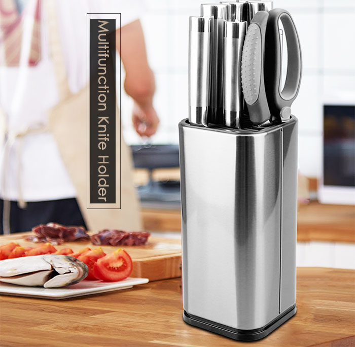 Knife Stand Holder For Kitchen Knife Stainless Steel Knife Holder Stand Block High End Kitchen Accessories HTB1IIifR9zqK1RjSZFpq6ykSXXaY