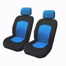 Universal Car Seat Cover Set 8Pcs Covers Front Back Headrest Mesh Black and Gray 5 Styles Optional