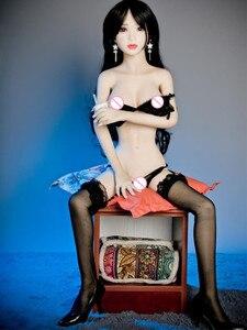 Image 4 - 20A 125 センチメートル等身大のセックス人形ブロンド美セクシーガール巨乳リアルな人形フル tpe とスケルトン口腔、膣、 andanus