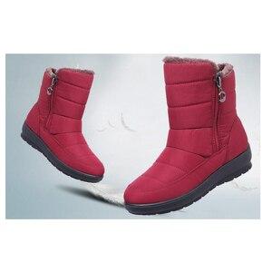 Image 5 - TIMETANG 2019 yeni kaymaz su geçirmez kışlık botlar artı pamuk kadife kadın ayakkabı sıcak ışık büyük boy 41 42 kar bootsE1872