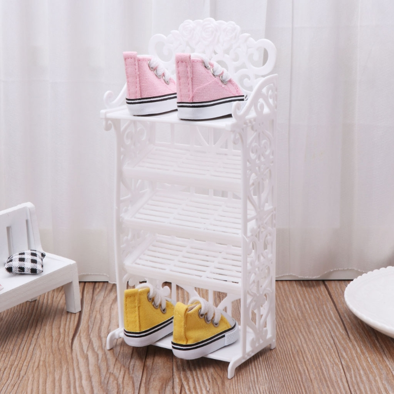 Toys & Hobbies Dolls & Stuffed Toys Honey 1pcs Mini Dollhouse Shoe Cabinet For Girls Doll Living Room Home Furniture Accessories Girls Best Birthday Gifts