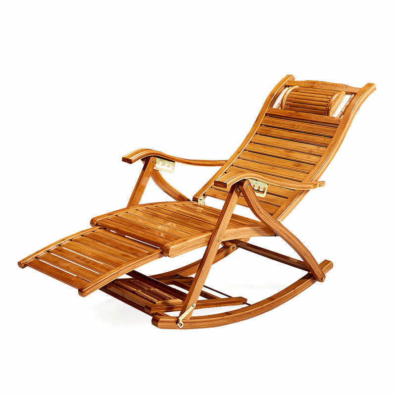 Miraculous Modern Foldadble Bamboo Rocking Chair Recliner With Ottoman Indoor Outdoor Lounge Deck Chair Bamboo Furniture Reclining Rocker Cjindustries Chair Design For Home Cjindustriesco